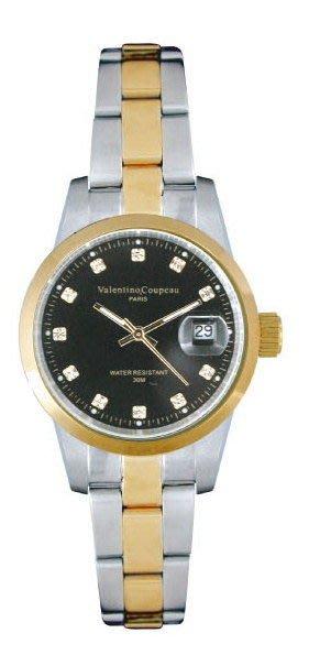 (六四三精品)Valentino coupeau(真品)(全不銹鋼)精準女錶(附保証卡)12168TL-18