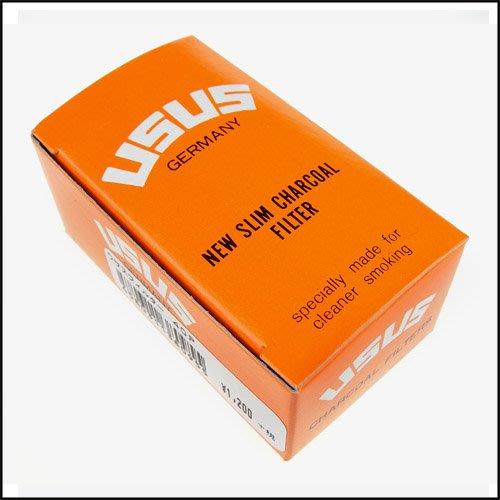 ☆哈洛德小舖☆【USUS】煙嘴專用6mm活性碳濾心-德國進口-40支入