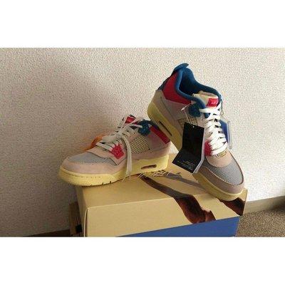 """正品Union x Air Jordan 4 """"Guava Ice """"粉紅 特殊盒  粉紅藍 DC9533-800休閒運動鞋"""