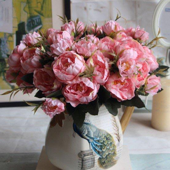 假花 仿真花 花束 歐式迷你芍藥牡丹五色 仿真花 假花 絹花  客廳家居裝飾花 裝飾假花 道具花 客廳裝飾 擺設