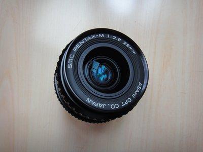 【康泰典藏】PENTAX-M SMC 28MM F2.8 定焦鏡頭~PK接環~可轉接CANON.NIKON.SONY