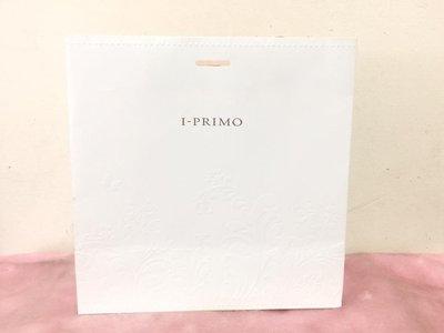 ~**粉紅魚兒**~ I PRIMO - 白色 簡約壓印圖樣 LOGO 中紙袋/手提袋 ( 25x24x11.5 )