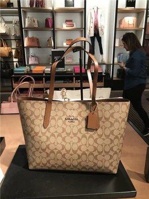 (Outlet特惠)COACH 67108 新款女士敞口托特包 購物袋 附購買證明