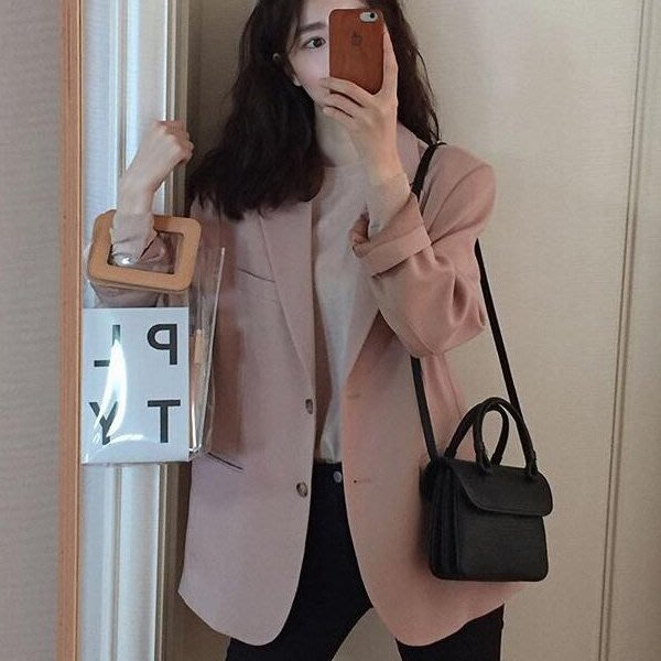薄外套 韓風穿搭輕熟女必備柔感女性美氣質西裝外套 艾爾莎【TAE8192】