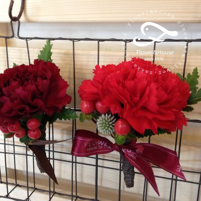 H21。主婚人胸花。長輩胸花。新郎胸花。台北自取【Flower&House花藝之家】
