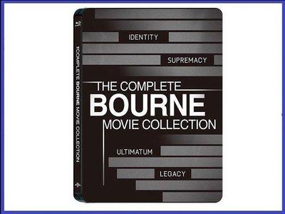 【BD藍光】神鬼認證 1 ~ 4 集:四碟限定鐵盒版The Bourne(台灣繁中字幕) 麥特戴蒙