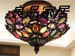 【優上精品】地中海歐式燈吸頂燈復古田園客廳燈臥室燈具餐廳燈飾玄關過道燈(Z-P3167)