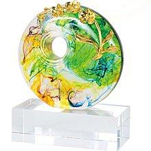『府城畫廊-台灣工藝品區』水精琉璃-芝蘭之香-16x20-高質感擺飾-(關於我有油畫國畫賣場連結)-F061-S