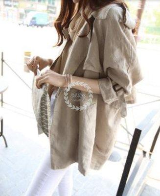 【2A Two】首爾🍩棉麻料小外套 版型正~ 七分袖薄外套 『BA0682』