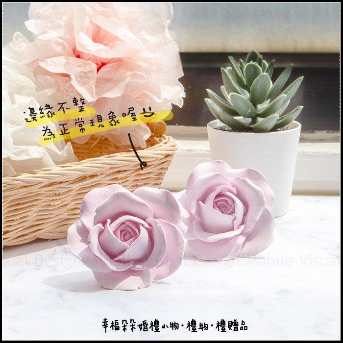 玫瑰擴香石風口夾(2色包裝紙袋可挑) 汽車出風口夾 婚禮小物 情人節禮物 交換禮物 閏蜜禮