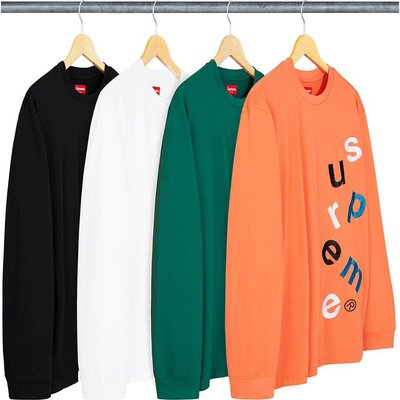 【美國鞋校】預購 Supreme FW20 Scatter Logo L/S Top 長T