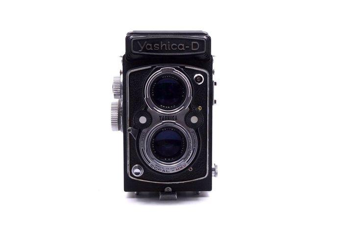 【台中青蘋果競標】Yashica-D 80mm f3.5 底片相機 鏡頭發霉 收藏品/零件機出售 #15504