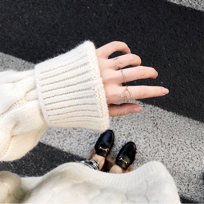 戒指關節戒指環 歐美日韓風三件套 戒指簡約百搭個性開口戒_☆找好物FINDGOODS☆