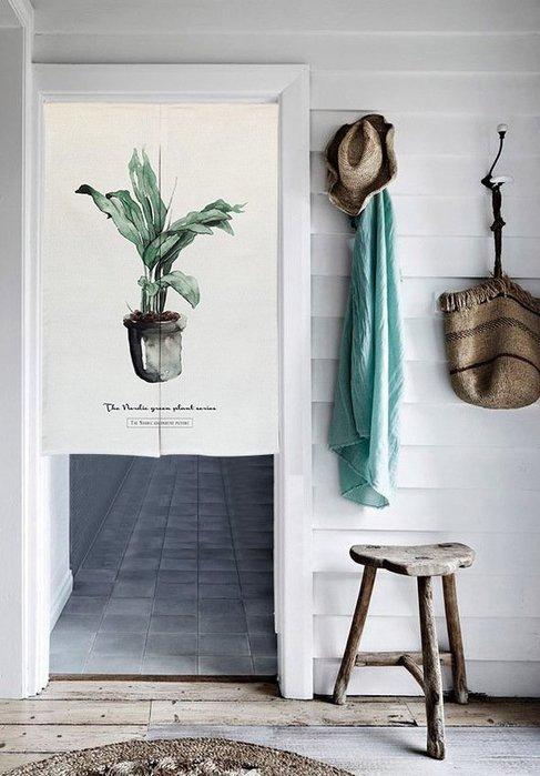 【Uluru】北歐簡約風格 植栽 門簾 棉麻 玄關 特力屋 ikea 宜家 HOLA 窗簾 zakka 無印良品