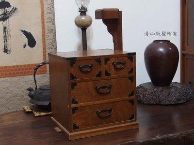 ☆清沁苑☆古民家の道具~櫸木製 針線櫃 收納箱~d146 特價品
