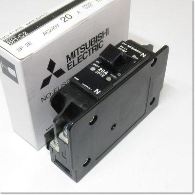 BV-C1,2P1E 20A 30mA漏電斷路器,用於分支電路(三菱電機) 中古 二手 BV-Cl,2PlE BV-CI,2PIE BVC1,2P1E BV一C