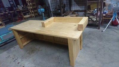 E001{崙頂傳統原木家具行}~杉木實木櫃檯桌  歡迎訂製尺寸