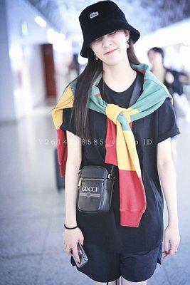 【代購】Gucci Logo 郵差包 小方包 側背包 小型 黑色 男、女同款