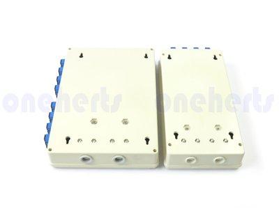 立即出貨 ABS 12口塑鋼壁掛式光纖終端盒 全配 可以搭配SC FC LC耦合器及豬尾巴 12路終端盒 末端盒 光纖盒