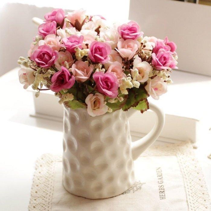 ~愛麗絲 家飾雜貨~zakka法式典雅白色陶瓷花器 花瓶 居家擺飾