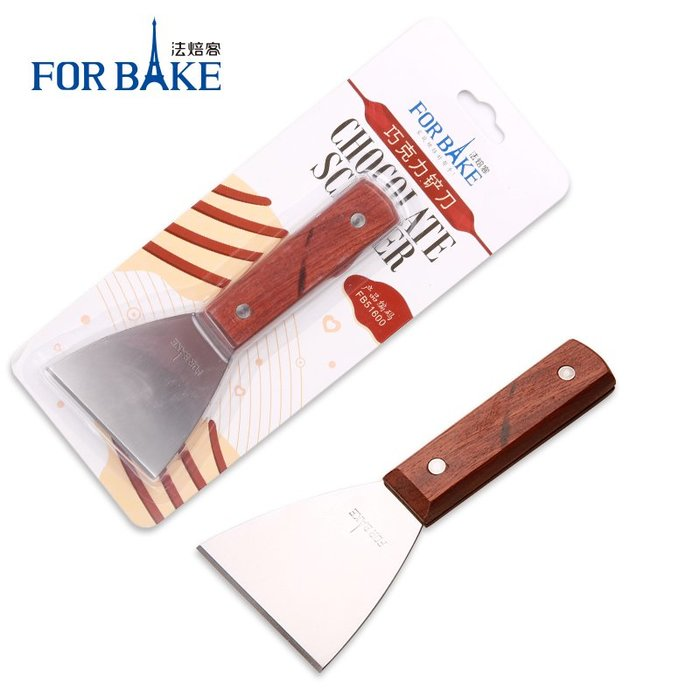 奇奇店-熱賣款 法焙客巧克力鏟刀工具 鏟花鏟刀 不銹鋼鐵板燒料理鏟子炒冰鏟子