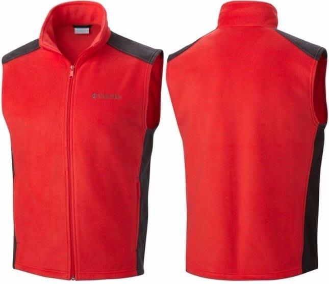 大降價!全新美國戶外運動品牌 Columbia 男裝亮紅色黑色戶外休閒風保暖背心!M 號,送禮自用皆宜!無底價!免運!