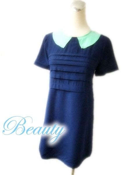 *Beauty*MARC BY MARC JACOBS藍色絲質洋裝 0號 WE13
