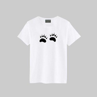T365 腳印 足跡 足印 痕跡 05款 T恤 男女皆可穿 多色同款可選 短T 素T 素踢 TEE 短袖 上衣 棉T