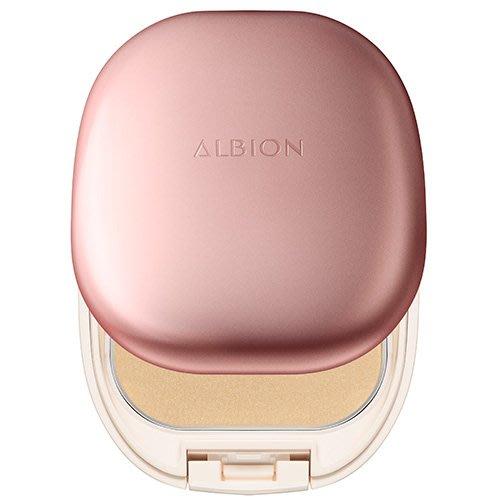 【Q寶媽】ALBION 艾倫比亞 潤雪膚輕感粉餅 SPF12/PA++ 10g 蕊+盒+撲 台灣專櫃貨