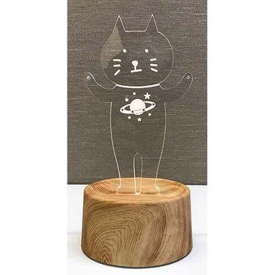 Acrysta LED 貓咪小夜燈 (星球款)飾品收納架 眼鏡架 掛勾價 (可USB充電/乾電池ok)