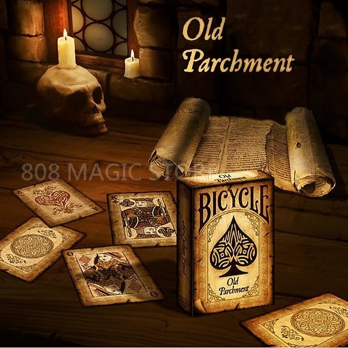 [808 MAGIC]魔術道具 Bicycle Old Parchment Playing Cards