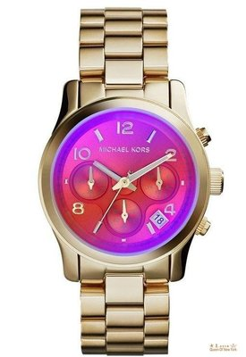 紐約女王代購 Michael Kors MK5939 經典手錶 時尚幻彩玻璃女錶runway ss ladies watch 美國正品 可分3期