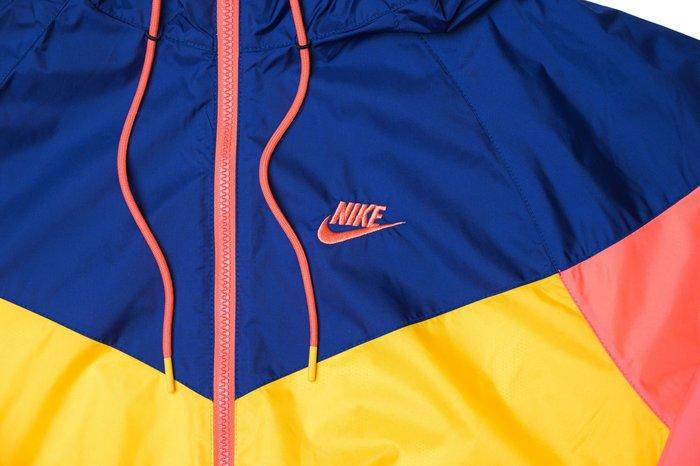 南◇2020 1月 NIKE NSW HE WINDRUNNER 風衣外套  連帽 Ar2192-739 藍色橘粉色