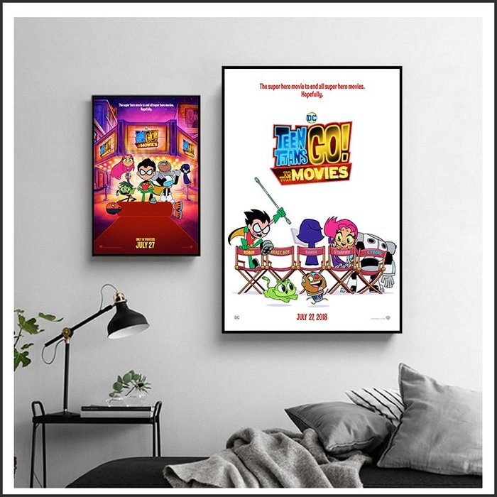 日本製畫布 電影海報 電影少年悍將 GO! Teen Titans GO! 掛畫 無框畫 @Movie PoP ~