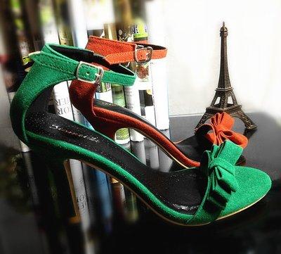 :Bumpy: 精工時尚高跟涼鞋,五色