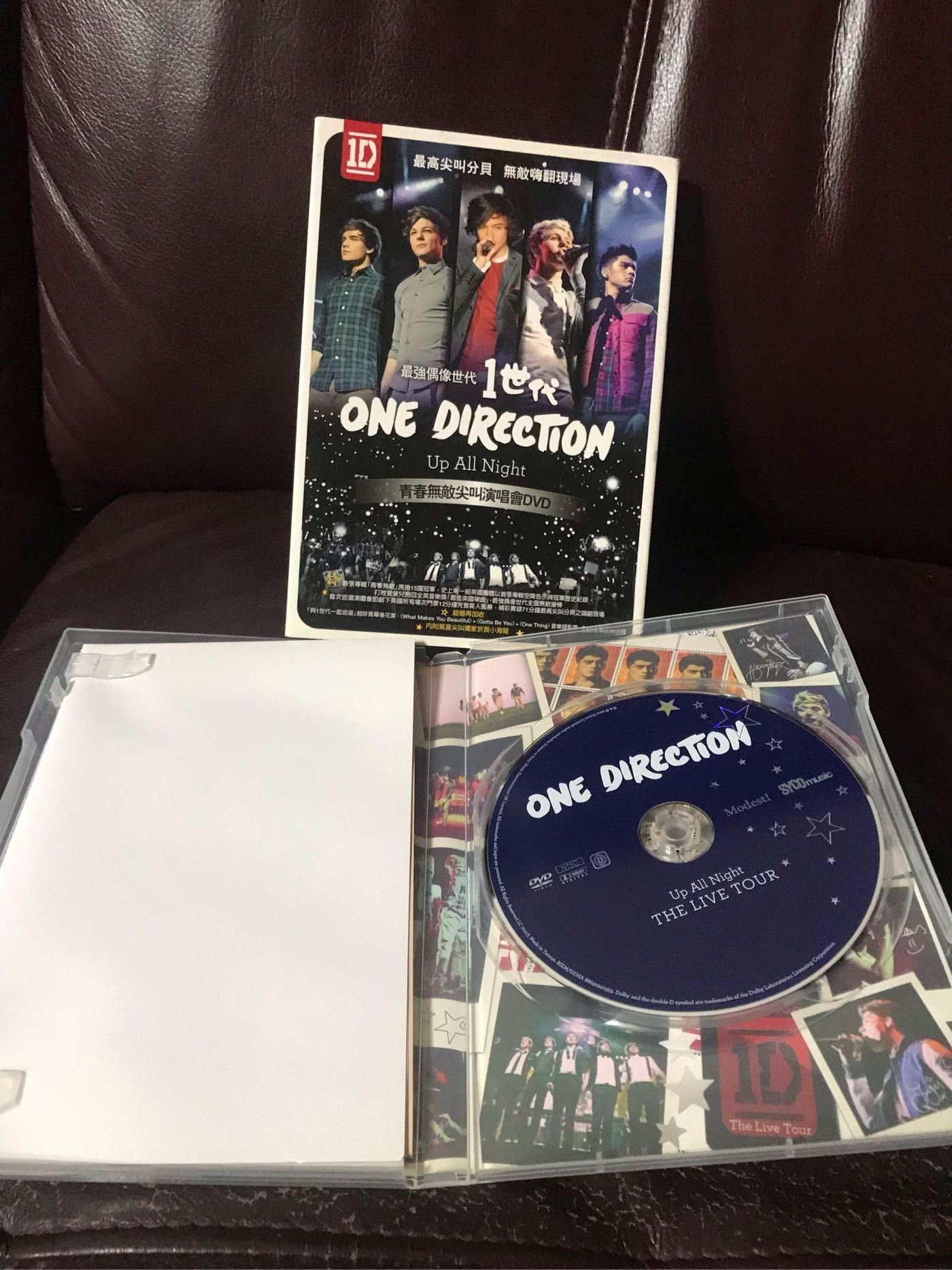 1世代》青春無敵 尖叫演唱會 / ONE DIRECTION Up All Night The Live 九成新