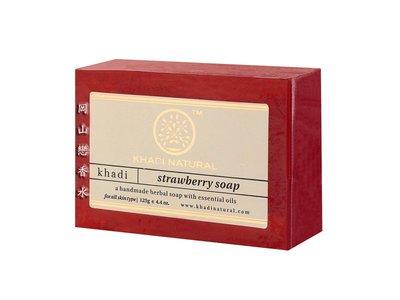 岡山戀香水~印度 Khadi 草本草莓手工精油香皂125g~優惠價:55元