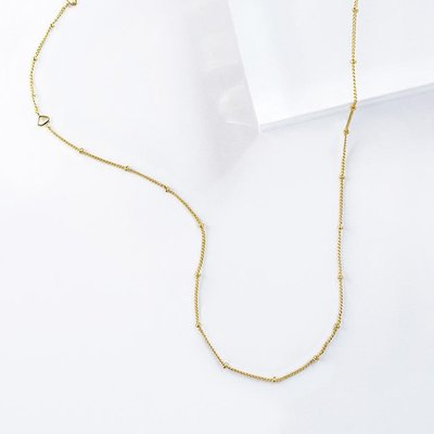 Wanderlust+Co 澳洲品牌 Beaded Gold Necklace 金色素鍊 星辰豆豆款