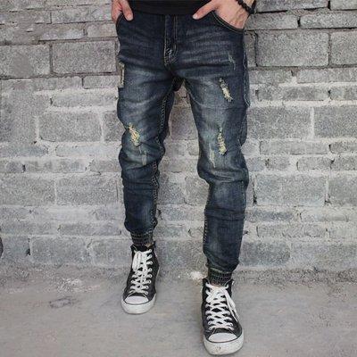 牛仔Jogger Pants 束口 縮口褲 可搭配 nike NB Jordan 28-36腰