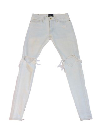 Fear Of God Distressed Washed Out Denim Jeans Fifth Collection.牛仔褲