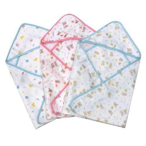 HM嬰幼館【Z054】熱銷夏款 日本西松屋四層紗布嬰兒包巾 抱毯 抱被 浴巾 多用毯