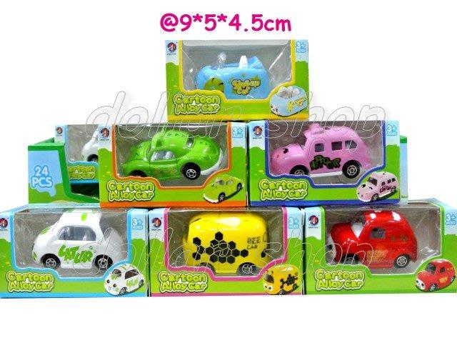寶貝玩具屋二館☆【合金】超可愛小動物造型彩色合金小汽車6入(六款各一)(標金是6台的價格)