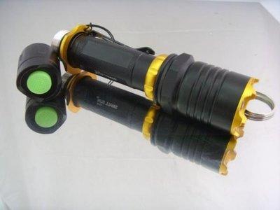 福田商城=CREE Q5 旋轉式調距LED戰術手電筒 最大射程可達150米 附18650電池