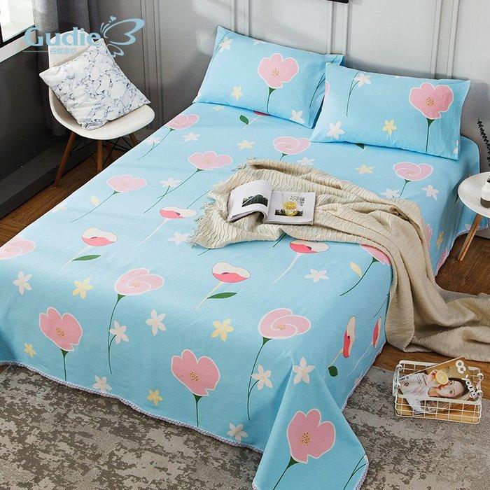 奇奇店-100%全棉老粗布床單單件1.2m 純棉加厚雙人被單1.5m1.8米床