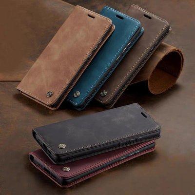 經典棕色磁吸翻蓋皮套iPhone X XR XS MAX i8 i7 i6s i6 plus防摔保護殼 蘋果復古磨砂皮質