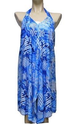 【M9420 】梅林泳裝2020新品~大女藍色比基尼搭綁帶罩衫三件式 贈泳帽