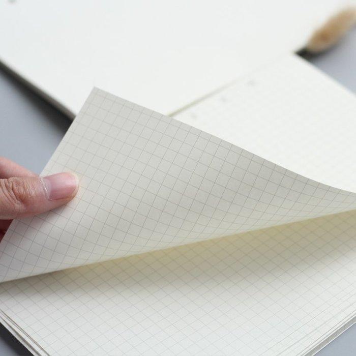 手帳 便簽 活頁 線圈本 通用活頁夾替換內芯標準6孔記事本內頁A5/A6/A7六孔商務筆記本子