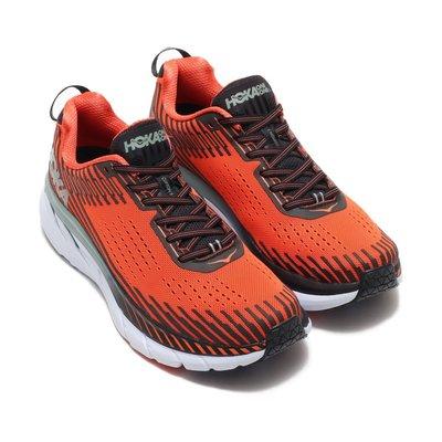 =CodE= HOKA ONE ONE CLIFTON 5 3M反光透氣網布慢跑鞋(橘黑綠) 1093755NPHN 男