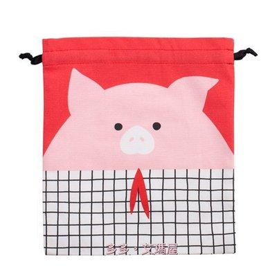 【現貨】㊣ Starbucks 星巴克~俏皮粉紅豬 束口袋 / 抽繩袋 / 收納袋,收納好幫手