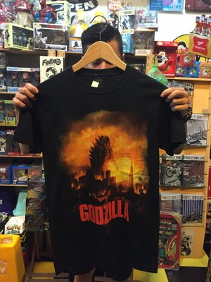 (I LOVE樂多) 美國進口 哥吉拉 Godzilla  大圖 T桖 短T